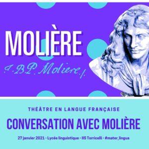 "Locandina - Teatro in lingua francese: ""Conversation avec Molière"""